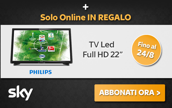 In regalo solo online TV Led Full HD 22